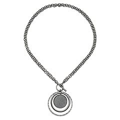 Apt. 9® Convertible Glitter Disc Pendant Necklace