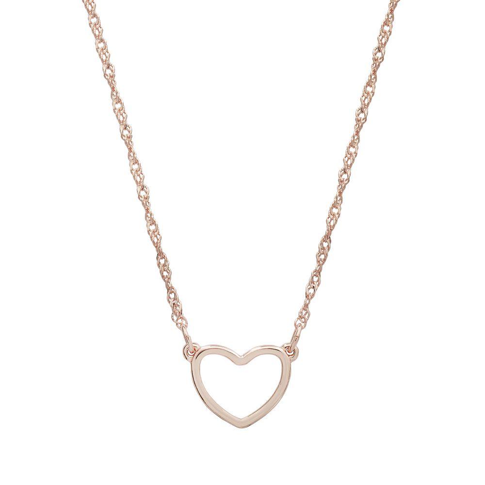 LC Lauren Conrad Rose Gold Tone Heart Necklace