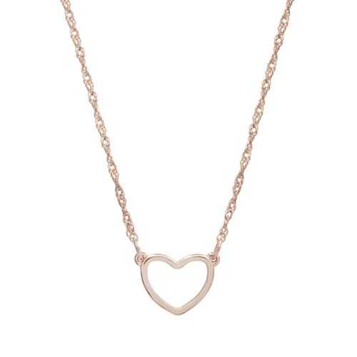 Lc Lauren Conrad Rose Gold Tone Heart Necklace by Kohl's
