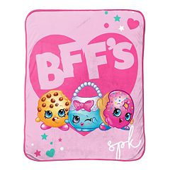 Shopkins BFF Kooky Cookie, D'Lish Donut & Handbag Harriet Throw