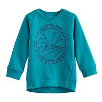 Toddler Boy Jumping Beans® Raglan Fleece Graphic Sweatshirt