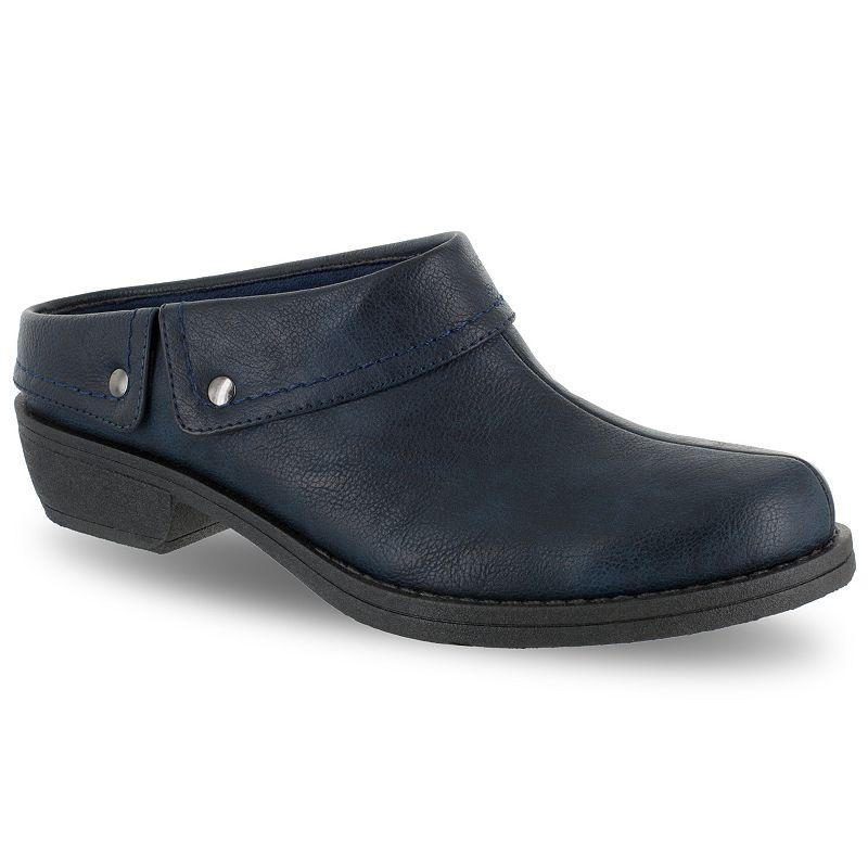 Easy Street Becca Women's Mules. Size: 8.5 Ww. Blue