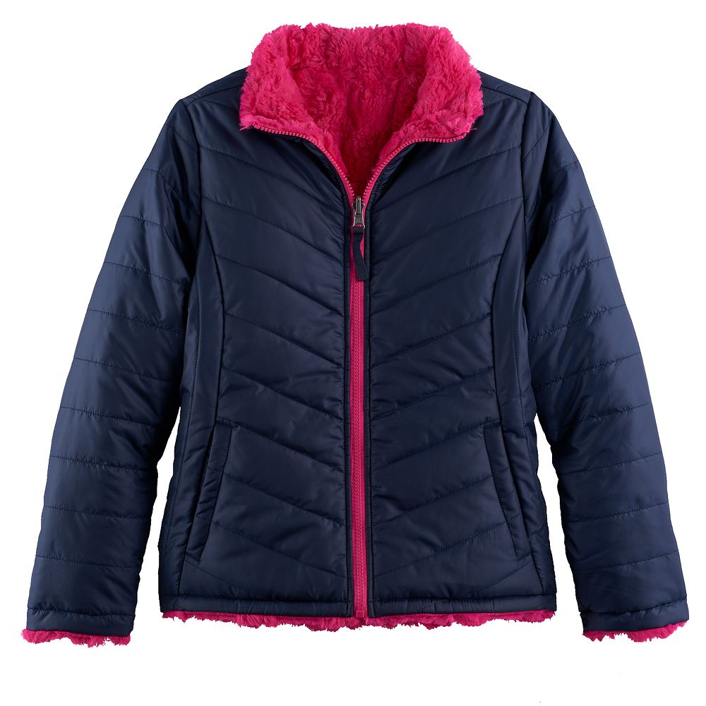 7-16 SO® Reversible Faux-Fur Quilted Jacket