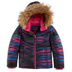 Girls 4-16 SO® Heavyweight Faux-Fur Trim Puffer Jacket