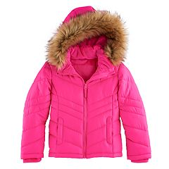 Girls 4-16 SO® Heavyweight Faux-Fur Trim Puffer Jacket