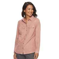 Women's Croft & Barrow® Faux Suede Shirt