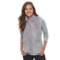 Women's Croft & Barrow® Minky Velboa Fleece Vest