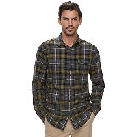 Men's SONOMA Goods for Life™ Slim-Fit Plaid Flannel Button-Down Shirt