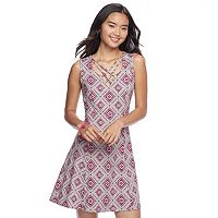 Juniors' Mudd® Cross Front Dress