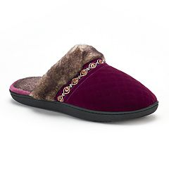 Women's isotoner Mildred Diamond Quilted Velour Clog Slippers