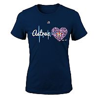 Girls 7-16 Majestic Houston Astros Heart Beat Tee