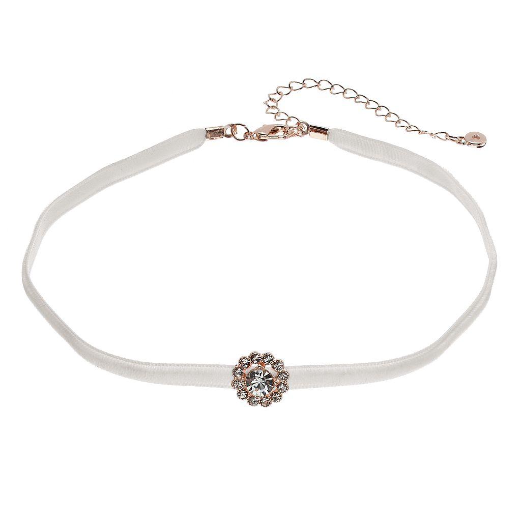 LC Lauren Conrad Halo Ribbon Choker Necklace