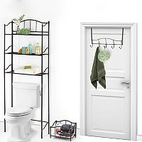 Popular Bath 3 pc Scroll Space Saver Set