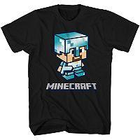 Boys 8-20 Minecraft Steve Tee