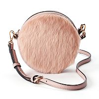LC Lauren Conrad Petit Faux Fur Round Crossbody Bag