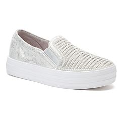 Skechers Double Up Shiny Dancer Girls' Slip-On Sneakers