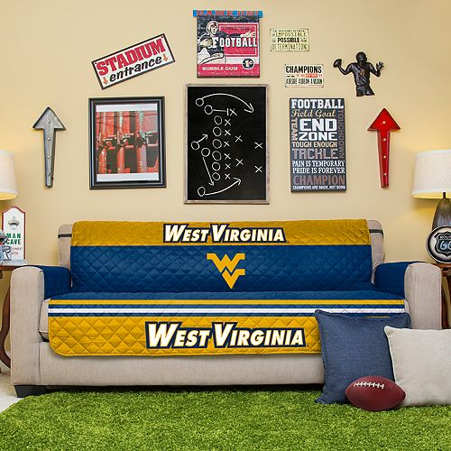 Pegasus Sports Fashions West Virginia Mountaineers Sofa Protector