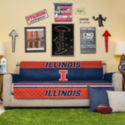 Pegasus Home Fashions Illinois Fighting Illini Sofa Protector