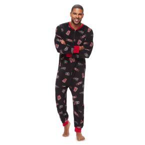 Big & Tall Jammies For Your Families Movie Night One-Piece Fleece Pajamas
