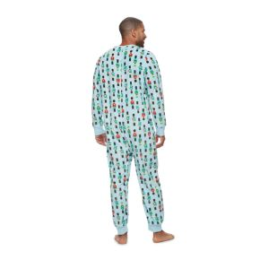 Big & Tall Jammies For Your Families Nutcracker One-Piece Fleece Pajamas