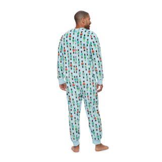 Big & Tall Jammies For Your Families Nutcracker One-Piece Fleece Pajamas