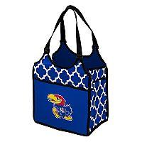 Logo Brand Kansas Jayhawks Quatrefoil Tandem Cooler Tote