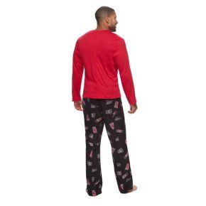 Big & Tall Jammies For Your Families Movie Night Top & Fleece Bottoms Pajama Set