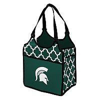 Logo Brand Michigan State Spartans Quatrefoil Tandem Cooler Tote