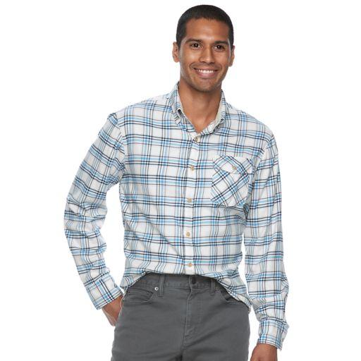 Men's SONOMA Goods for Life™ Flexwear Modern-Fit Plaid Stretch Button-Down Shirt