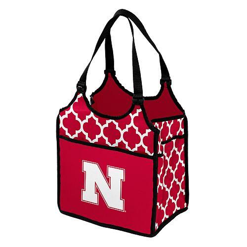 Logo Brand Nebraska Cornhuskers Quatrefoil Tandem Cooler Tote