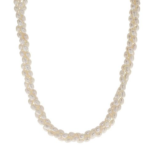 PearLustre by Imperial Triple Row Freshwater Cultured Pearl Necklace