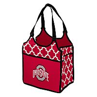 Logo Brand Ohio State Buckeyes Quatrefoil Tandem Cooler Tote