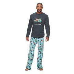 Big & Tall Jammies For Your Families Nutcracker Top & Fleece Bottoms Pajama Set