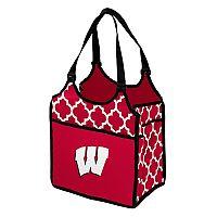 Logo Brand Wisconsin Badgers Quatrefoil Tandem Cooler Tote