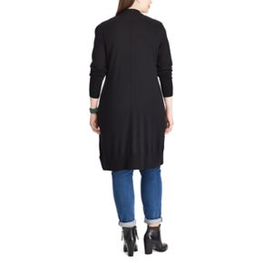 Plus Size Chaps Open-Front Long Sleeve Cardigan
