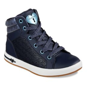 Skechers Shoutouts Shimmer Girls' High Top Sneakers