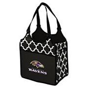 Logo Brand Baltimore Ravens Quatrefoil Tandem Cooler Tote