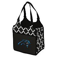 Logo Brand Carolina Panthers Quatrefoil Tandem Cooler Tote