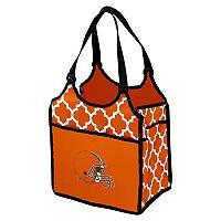 Logo Brand Cleveland Browns Quatrefoil Tandem Cooler Tote