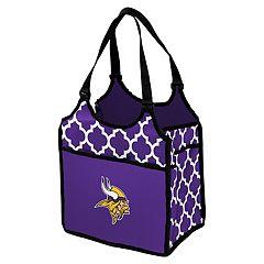 Logo Brand Minnesota Vikings Quatrefoil Tandem Cooler Tote