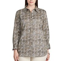 Plus Size Chaps Non-Iron Cotton Button-Down Shirt