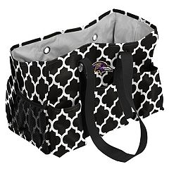 Logo Brand Baltimore Ravens Quatrefoil Junior Caddy Tote