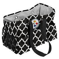 Logo Brand Pittsburgh Steelers Quatrefoil Junior Caddy Tote