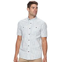 Men's Coleman Regular-Fit Plaid Button-Down Performance Guide Shirt