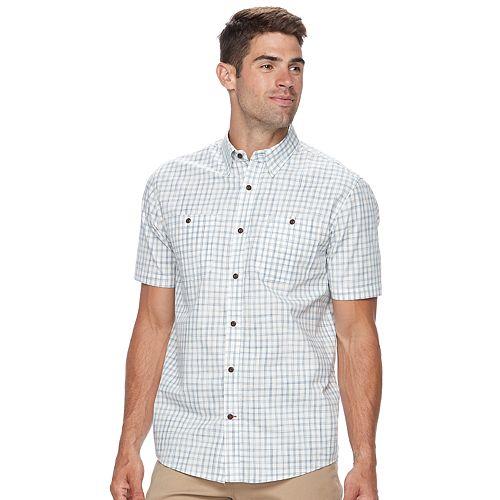 Men's Coleman Regular-Fit Plaid Button-Down Performance Guide Shirt