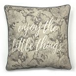 SONOMA Goods for Life? Ultimate ''Enjoy the Little Things'' Feather Fill Throw Pillow