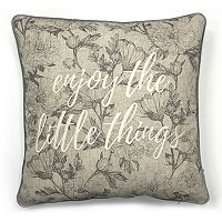 SONOMA Goods for Life™ Ultimate ''Enjoy the Little Things'' Feather Fill Throw Pillow
