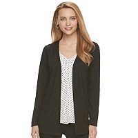Women's ELLE™ Mock-Layer Cardigan Top