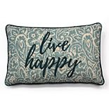 SONOMA Goods for Life? Ultimate ''Live Happy'' Feather Fill Oblong Throw Pillow