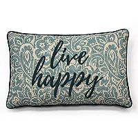 SONOMA Goods for Life™ Ultimate ''Live Happy'' Feather Fill Oblong Throw Pillow